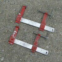 Vintage Stanley Handyman 6 Inch Bar Clamps No. H157  USA Made ~ Lot of 2