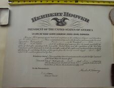 President Herbert Hoover Postal Civil Appointment Signed 1932 Walter F. Brown