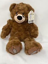 """Build A Bear Football Teddy Bear Plush Stuffed Animal Brown 17"""" NWT"""