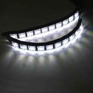 2PCS 12V LED Strip DRL Daytime Running Lights Fog For Car Lamp Driving White