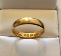 Superb Antique 1925 Full Hallmarked Solid 22CT Gold Wedding Band - P