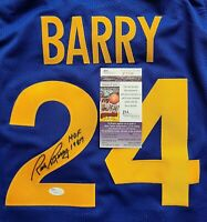 HOF Rick Barry Golden State Warriors Signed Auto Inscribed XL Jersey JSA COA