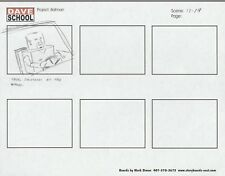 2004 LEGO BATMAN Storyboard Art by Mark Simon VF 8.0 Thug Driver Scene 13-19