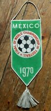 Rare Vintage Lantz Promotional Mexico World Championship 1970 Pennant Banderin