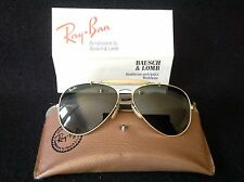Vintage 58014 Bausch Lomb Ray Ban Aviator Sun Glasses with Case
