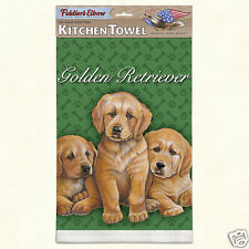 Fiddlers Elbow Lint Free Kitchen Cotton Golden Retrievers Dogs Puppies New