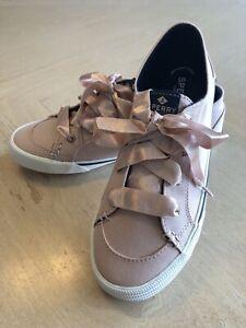 Sperry Womens Lounge LTT Satin Lace Sneaker Size 8 M Rose Pink Memory Foam New