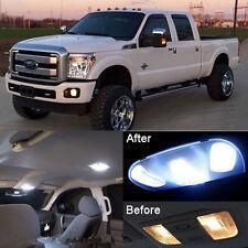 Xenon White LED Interior kit + License Light LED For Ford F250 F350 2011-2015