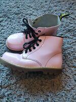 Dr Martens Delaney 6004 Pink School Kids Girls Boots Size UK 1