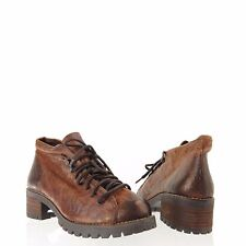 Women's Topshop Apprentice Shoes Brown Leather Lace Up Ankle Boots Size 42 NEW!