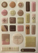 POSH SHAPES GEL CANDY Epoxy Stickers (23pc)Ki Memories•Letter•Lower-Case•Number