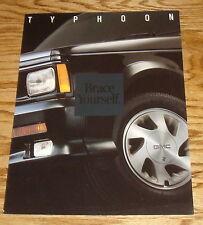 Original 1993 GMC Typhoon Truck Foldout Sales Brochure 93