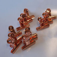 ROSE GOLD  BULL DOG CLIPS 75MM PACK OF 12