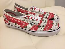 Supreme x Vans x Campbells Soup Authentic Pro Shoes Sz. 10.5 NEW
