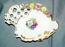 Schälchen Barockform, Durchbruch, plast. Blumen, Ackermann & Fritze, Volkstedt