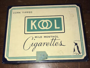Rare Kool Flat Fifty Cigarette Tin Advertising