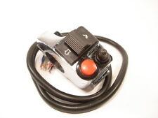 Ein Aus Universal Motorrad Lampe Schalter Blinker Lenkerschalter chrom *NEU*