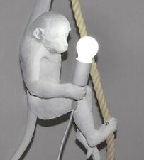 Modern Monkey Holding A Light Bulb Fitting Ceiling Vintage Filament LED Bulb