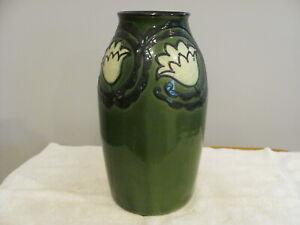 """LARGE, Vintage 12"""" Vase by MAX LAUGER Art Nouveau Czechoslovakia Austria"""