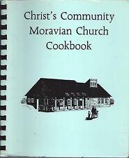 MAPLE GROVE MN 1987 CHRIST'S COMMUNITY MORAVIAN CHURCH COOK BOOK ETHNIC RECIPES