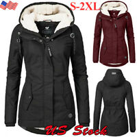 Womens Winter Thicken Hooded Warm Coat Jacket Trench Outwear Long Parka Overcoat