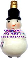 "Old Time ""Milk Glass"" Christmas Light - Snow Man"