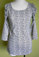 Ladies 3/4 Sleeve Round Neck Long T-Shirt Top Animal Print  Valleygirl Size L