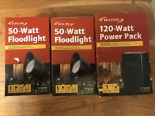 Malibu Landscape Lighting Power Pack 120W - Black w/ 2 pieces Floodlight (50W)