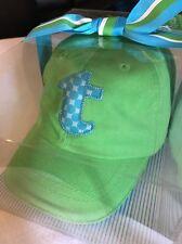 MUD PIE BABY INFANT BOY BASEBALL HAT CAP INITIAL T GREEN BLUE SHOWER GIFT 6-12