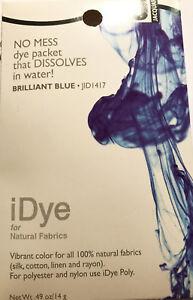 IDye - Farbe 417  Brilliant Blue  -  zum Färben aller natürlichen Stoffe