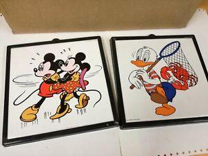Mattonelle Piastrelle Ceramiche Walt Disney Topolino Paperino - Anni '60 '70