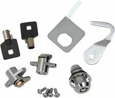 Chrome Replacement Saddlebag Tour Pak Locks Set Keys 93-13 Harley Touring Bagger