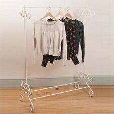 Cream vintage metal clothes rail clothing stand chic ornate bedroom