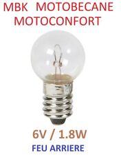 AMPOULE FEU ARRIERE 6V 1.8W MBK 41 51 MOTOBECANE MOTOCONFORT MOBYLETTE A VISSER