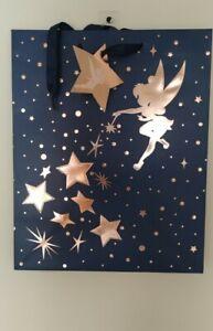 Disney Tinkerbell Birthday Gift Bag Large Navy
