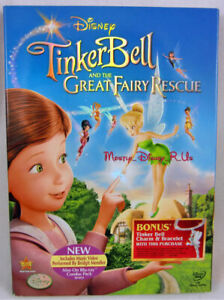 New Disney Tinkerbell Great Fairy Rescue DVD Movie Tink