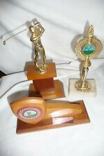 Golf trophies 3 pieces wood & metal NOT ENGRAVED