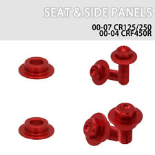 CNC Motorcycle Seat Side Panels Screws Bolts for Honda CR125 CR250 CRF450R