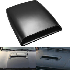Black Car Decorative Air Flow Intake Hood Scoop Vent Bonnet Base Cover Universal
