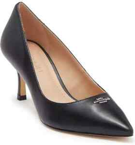 New Coach Orla Leather Pump black women shoes sz 8M leather  pointed toe