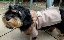 Dog coat jacket with faux fur collar, wool, stylish large or 40cm NEW