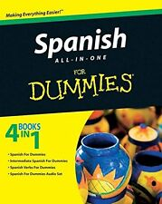 Spanish All-in-One For Dummies New Paperback Book Consumer Dummies