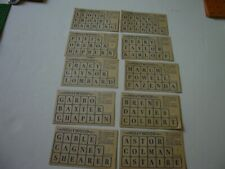 ANTIQUE HOLLYWOOD GAME CARD LOT 10 CARDS REPLACEMENT PIECES