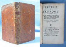 PENSÉES de SÉNÈQUE / 1ère édition Desaint éditeur 1752 / Éd. Latin-Français / T1