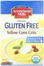 New listing Arrowhead Mills Organic Gluten-Free Yellow Corn Grits, 24 oz. Bag Pack of 6