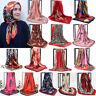 """Fashion Womens  Printed Hijab Scarf Silk-Satin Square Head Shawl Scarves 35""""*35"""""""