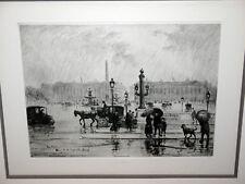 FRANK MILTON ARMINGTON 1924 Chalcographie du Louvre Drypoint Etching - Paris