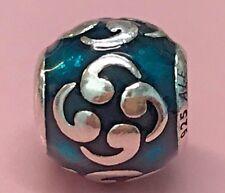 PANDORA | BLUE ENAMEL ZEN CHARM *NEW* 790491EN08 RARE RETIRED 925 ALE SILVER USA