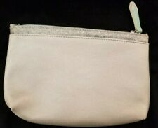 Ipsy Bag,Sparkly Silver with light aqua blue on the zipper & tassel,