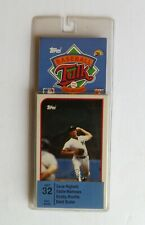 1989 Topps Baseball Talk Collection Set # 32 Dave Righetti Eddie Mathews New